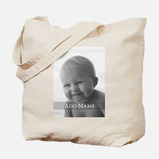 Add Photo Modern Design Tote Bag