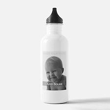 Add Photo Modern Design Water Bottle