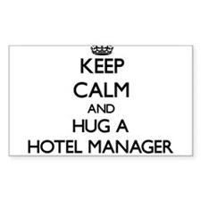 Keep Calm and Hug a Hotel Manager Decal
