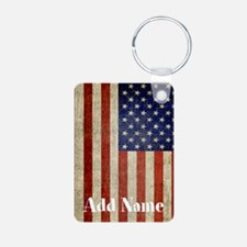 Add Name USA Flag Keychains