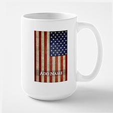 Add Name USA Flag Mugs