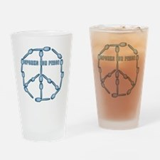 sporksforpeaceblue Drinking Glass