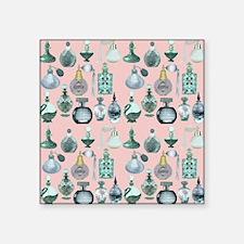 "perfume bottles shower curt Square Sticker 3"" x 3"""
