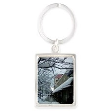 SNOW in the Heights Portrait Keychain