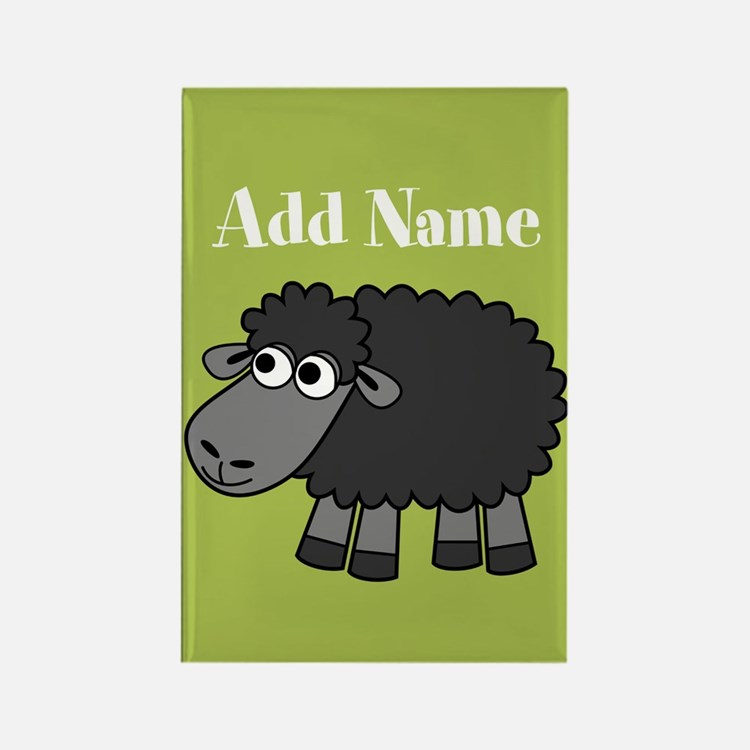 Black Sheep Add Name Lime Magnets