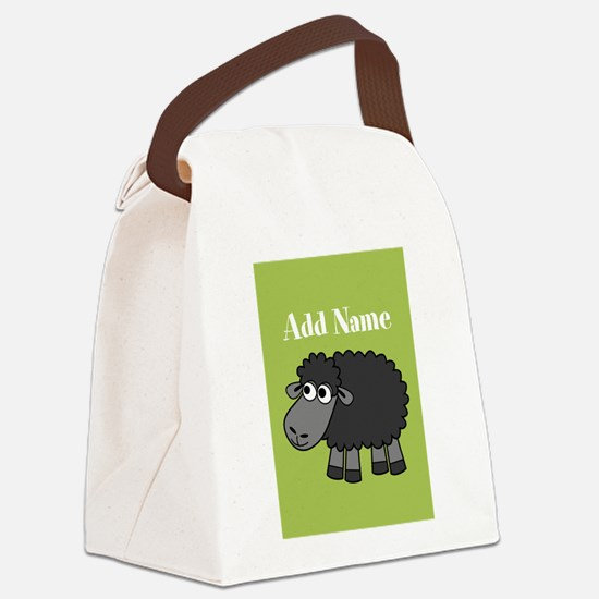 Black Sheep Add Name Lime Canvas Lunch Bag