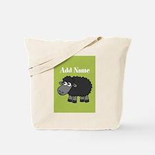 Black Sheep Add Name Lime Tote Bag