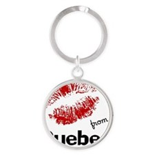 kisses from quebec Round Keychain