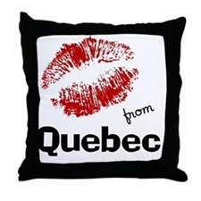 kisses from quebec Throw Pillow