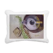 Tea Time teapot Rectangular Canvas Pillow