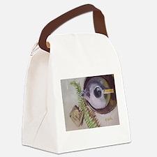 Tea Time teapot Canvas Lunch Bag