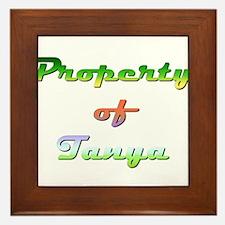 Property Of Tanya Female Framed Tile