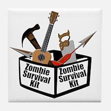 Zombie Ukulele Kit Tile Coaster