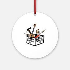 Zombie Ukulele Kit Round Ornament