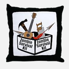 Zombie Ukulele Kit Throw Pillow