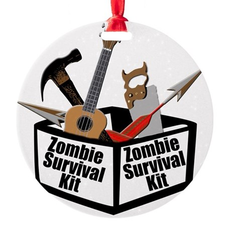 Zombie Ukulele Kit Round Ornament