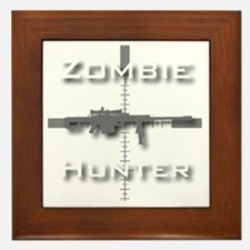Zombie Hunter Framed Tile