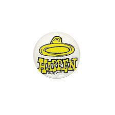 condom_happen_right_yellow Mini Button
