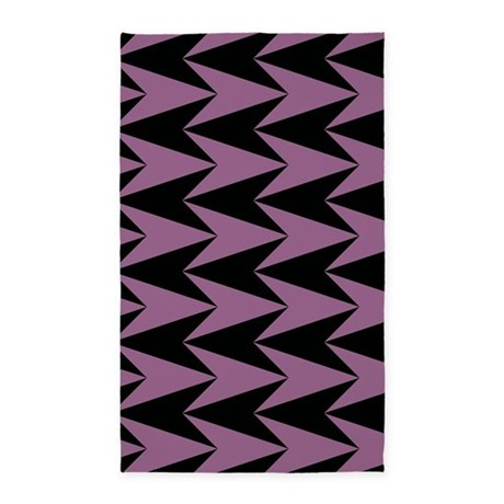pink and black arrowheads 3 39 x5 39 area rug by graphicallusions. Black Bedroom Furniture Sets. Home Design Ideas