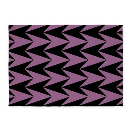 pink and black arrowheads 5 39 x7 39 area rug by graphicallusions. Black Bedroom Furniture Sets. Home Design Ideas