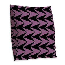 Pink and Black Arrowheads Burlap Throw Pillow