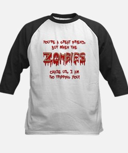 When Zombies Chase Us Baseball Jersey