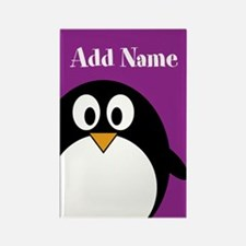 Modern Penguin Purple Magnets