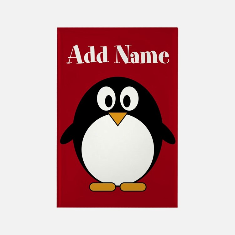 Modern Penguin Red Magnets