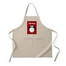 Modern Penguin Red Apron
