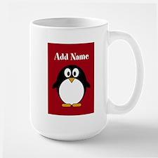 Modern Penguin Red Mugs