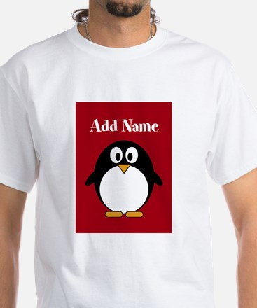 Modern Penguin Red T-Shirt