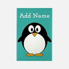 Modern Penguin Teal Magnets
