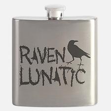 Raven Lunatic - Halloween Flask