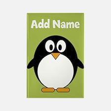 Modern Penguin lime green Magnets