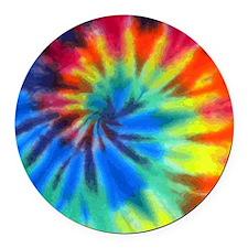 Tie-Dye Round Car Magnet