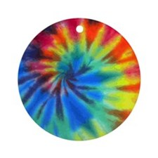 Tie-Dye Round Ornament