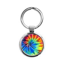Tie-Dye Round Keychain