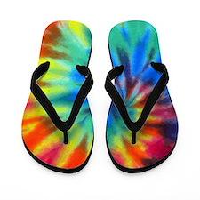 Tie-Dye Flip Flops