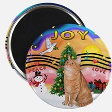 X Music 2 - Orange Tabby cat 46 Magnet