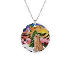 X Music 2 - Orange Tabby cat Necklace