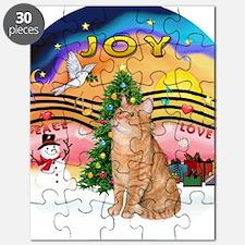 X Music 2 - Orange Tabby cat 46 Puzzle