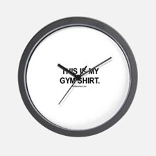 This is my gym shirt Wall Clock