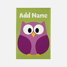 Modern Owl Lime Magnets