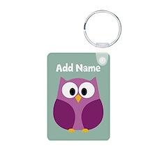 Modern Owl Mint Keychains