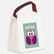 Modern Owl Mint Canvas Lunch Bag
