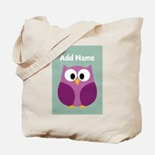 Modern Owl Mint Tote Bag