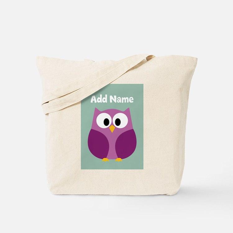 Modern Owl Mint Tote Bag