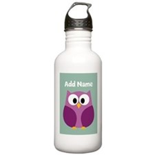 Modern Owl Mint Water Bottle