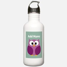Modern Owl Mint Water Bottle