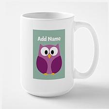 Modern Owl Mint Mugs